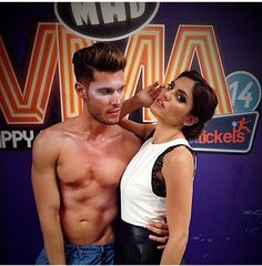 """""""Throw back"""" photo of Mary Sinatsaki, striking an oh-so-sexy pose in her total #BSB_outfit @ MAD VMA '14."""