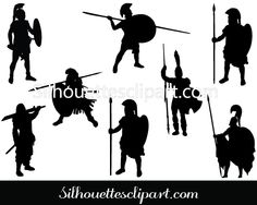 Ancient Warriors Silhouette Download Free