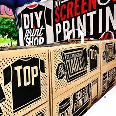 #renegadecraftfair #diyprintshop #made2makeit #doityourself #screenprintlife #popupshop