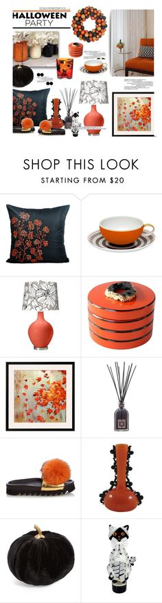 """Halloween Party Decor'"" by dianefantasy ❤ liked on Polyvore featuring interior, interiors, interior design, home, home decor, interior decorating, Vista Alegre, Hermès, Dr. Vranjes and Joshua's"