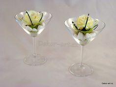Svatební dekorace sklenky štěstí - duo