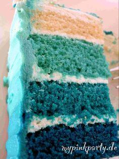 Die Ombre Torte blau kann in vielen Farben nach Anlass und Motto verwendet werden. Sei es in Blau oder Pink alles ist möglich und ein Hingucker auf jeder...