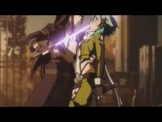 Sword Art Online II Scene - Sinon and Kirito Dueling[Eng Sub] - YouTube