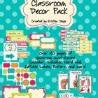 Everything you need for a coordinated polka dot classroom! Approx. 140 pages. I do take requests, so if there is something you need that isn't here...