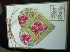 Mom's card- Hanko by Checha  Washi paper cards - re-Pinned by HankoDesigns.Com