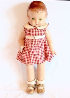 """19"""" Antique Effanbee Patsy Ann Doll Composition Original Dress Outfit    #Effanbee #DollswithClothingAccessories"""