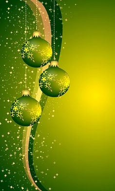 Download 480x800 «Christmas Green Balls» Cell Phone Wallpaper. Category: Holidays
