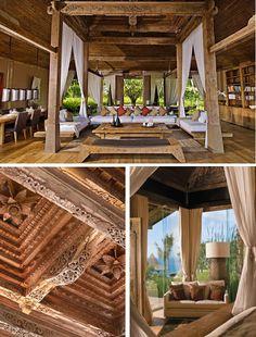 natural modern interiors: Joglo Living :: Khayangan Estate, Bali