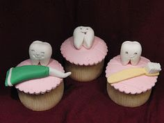 Pink tooth cupcakes