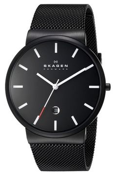 Skagen_Men's_SKW6053_Ancher_Black_Stainless_Steel_Watch_with_Mesh_Band