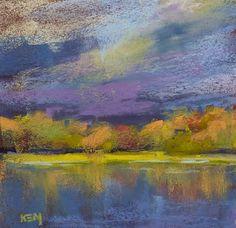 """Morning Drama'       5.5x5.5     pastel   ©Karen Margulis  sold    I like to travel light. Dragging around several pieces o..."