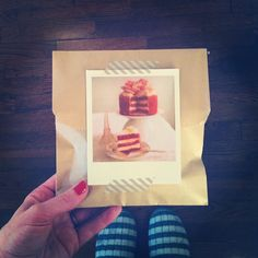 Polaroid Notecards as pretty packaging