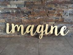 **ABOUT THE SIGN**  Introducing BB Signs newest sign options- CNC wood and metal words! We are offering custom words and phrases out of either 1/2 MDF wood, or mild steel. Other material options are available, so please message us to find out about pricing and availability! This listing is for the word adventure made from 1/2 mdf and measures aprox. 45 wide by 11 tall, and is painted gold. Other paint options are available, so please let us know if you have another request before yo...