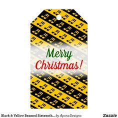 Shop for Merry Christmas gift tags & enclosure cards on Zazzle. Family Gifts, Kids Gifts, Home Gifts, Music Teacher Gifts, Music Teachers, Merry Christmas, Christmas Gifts, Holiday Gift Tags, Black N Yellow