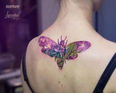 【纹身】【双重曝光纹身-Double Exposure Tattoos】抛开黑与白,纹身可以很彩色!