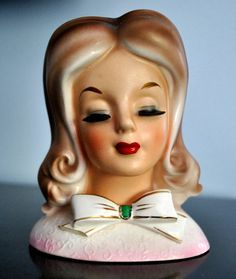 Vintage Dabs Lady Head Vase  Rare by carolsegal on Etsy