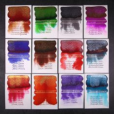 Sparkling ink for your fountain pen? Yes, please! Check out the most recent additions to the Diamine Shimmertastic collection. Wow!