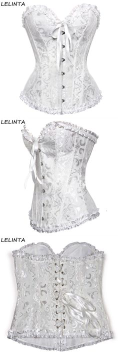 3091e7b3c0 Women lace up boned sexy plus size waist trainer overbust corset bustier  bodyshaper top with g