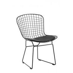 Replica Harry Bertoia Wire Chair Black Powder Coat