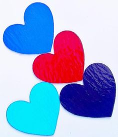 Precut Stained Glass Hearts Handmade