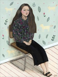 Paige Jiyoung Moon is an illustrator from Seoul, now based in Pasadena. i love her slice-of-life vignettes, all too familiar for anyone in their twenties or thirties. you can follow her on Instagram. oh and that Alpaca painting is for sale.