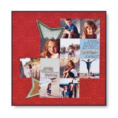 Smile Multi-Photo Scrapbook Layout Page Idea from Creative Memories  #scrapbooking    http://www.creativememories.com