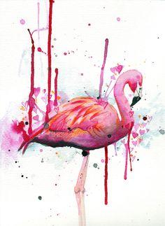 lovestruck flamingo
