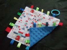 Handmade-Personalised-Taggie-Dummy-Holder-Toy-Link-Little-Knights Picnic Blanket, Outdoor Blanket, Handmade Baby, Knights, Blankets, Toys, Link, Ebay, Carpet