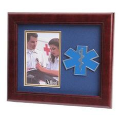 EMS frame 4x6 EMS Medallion Portrait Picture Frame Hand Made By Veterans