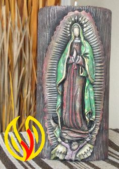 YLEANA CANDLES: Linea Religiosa Jesus Candles, Madonna, Hand Carved, Carved Candles, Carving, Saints, Virgen De Guadalupe, Making Candles, Irises