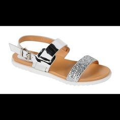 Sandals Glitter sandals  5.5(1), 6(2), 6.5 (2), 7(3), 7.5(3), 8(3), 8.5(2), 9(1) and 10(1) per color only. Shoes Sandals