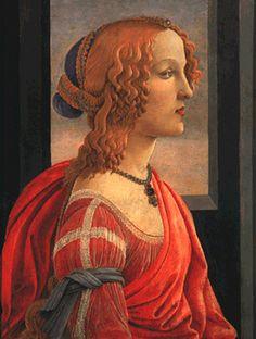 「美しきシモネッタの肖像」  サンドロ・ボッティチェリ