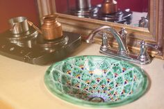great hand painted sink