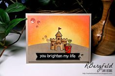 card sea beach summer sand castle bucket fun in the sun relax enjoy good life - Lawn Fawn Life is good stamps and die Rachel's Card Corner: You Brighten My Life