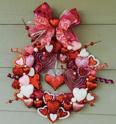 Excited to share the latest addition to my #etsy shop: Valentine's Day Wreath, Hearts, Hearts, and MORE Hearts, Pink, Red, White, Home Decor, Love, Heart Wreath, Sparkle, Holiday Decor, Valentine http://etsy.me/2ElqGaP #GlitterDazzleSparkle