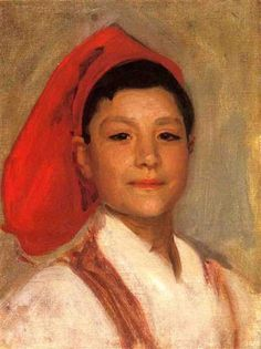 Head of a Neapolitan Boy - John Singer Sargent  Completion Date: 1879