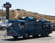 Fiat Scarab vintage racing transporter