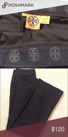 Tory Burch Black Slacks Excellent condition, no defects and very minimal wear - worn only a few times. Tory Burch Pants Straight Leg