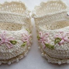 Cheryl's Crochet CC78 Baby Dainty Mary Jane PDF Download | Etsy Booties Crochet, Crochet Baby Boots, Crochet Baby Clothes, Crochet Stars, Free Crochet, Knit Crochet, Newborn Shoes, Baby Shoes Pattern, Knitted Slippers