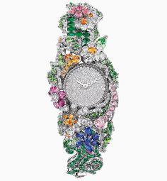 """""""Clairière Diamant"""" montre, Christian Dior À Versailles Côté Jardins, DIOR timepiece"""
