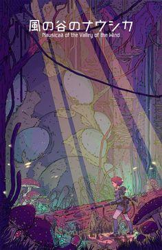 Nausicaa of the Valley of the Wind (Studio Ghibli) (Hayao Miyazaki) Anime Movie Hayao Miyazaki, Fanarts Anime, Manga Anime, Anime Art, Studio Ghibli Art, Studio Ghibli Movies, Studio Ghibli Poster, Nausicaa, Estilo Anime