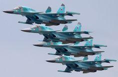 """Russian Air Force Sukhoi Su-34 """"Fullbacks"""""""