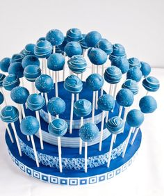 Blue Cake Pops need to see if I can Google recipie no recipie is attached