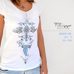 T-shirt illustré - tatou paillettes