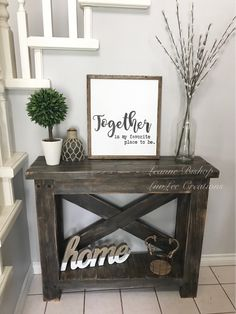 Beautiful Entry Table Decor Ideas to give some inspiration on updating your house or adding fresh and new furniture and decoration. post Beautiful Entry Table Decor Ideas to give some inspiration on updating your & appeared first on Dekoration. Entryway Decor, Entryway Tables, Entry Table Diy, Entrance Table Decor, Entryway Ideas, Rustic Entryway, Front Entry Decor, Farmhouse Entryway Table, Farmhouse Stairs