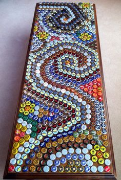 Beer bottle top table