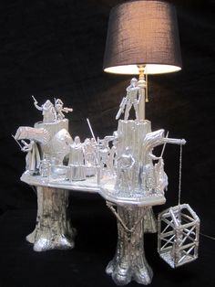 Ewok village turned lamp