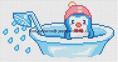 Bébé - baby - bain - point de croix - cross stitch - Blog : http://broderiemimie44.canalblog.com/
