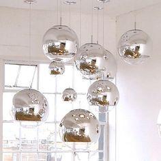 Tom Dixon Ball Silver Electroplate Glass Bar Cafe Art Ceiling Light Pendant Lamp