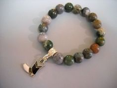 Cowgirl Up Fancy Jasper Beaded BRACELET with by Beads4You2008,